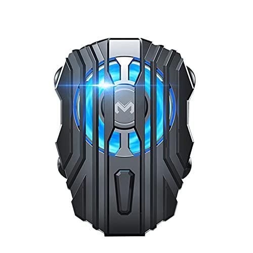 LIWEIL Refrigerador de teléfono Celular, radiador de teléfonos móviles para Jugar Juegos Viendo Videos, Velocidad de Viento de 3 Engranajes, luz LED, teléfono Inteligente de iPhone/Android Universal