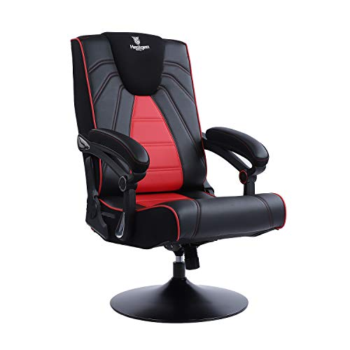 Healgen Video Gaming Chair with Bluetooth Speakers,Foldable and Adjustable Ergonomic Back Support,...