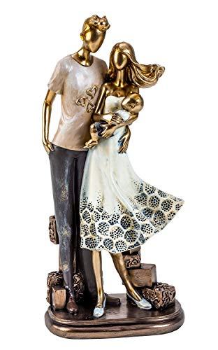 Lifestyle & More Moderne Skulptur Deko Figur Liebespaar auf Sockel Mehrfarbig Höhe 33 cm