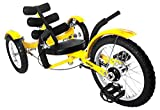 Mobo Cruiser Mobito Ultimate Three Wheeled Cruiser, Yellow, 16-Inch