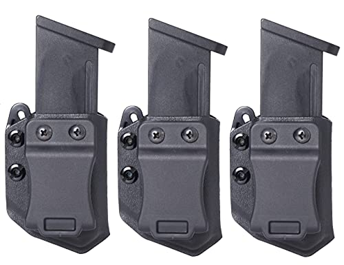 Universal 3PC 9mm/.40 Double Stack IWB/OWB Mag Carrier...