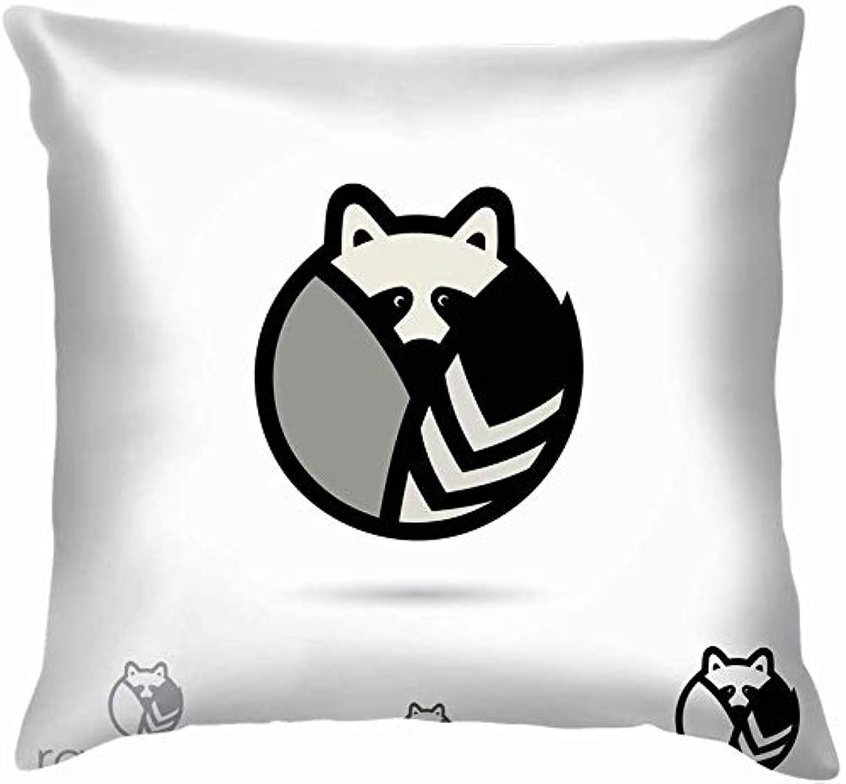 施しどちらも文房具アライグマシンボル動物野生動物投げる枕カバーホームソファクッションカバー枕カバーギフト45x45 cm