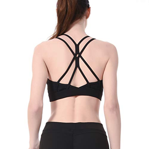 Aonour Workout Tank Tops Yoga Shirts Exercise Gym Clothing Built in Removable Padded Sports Bras