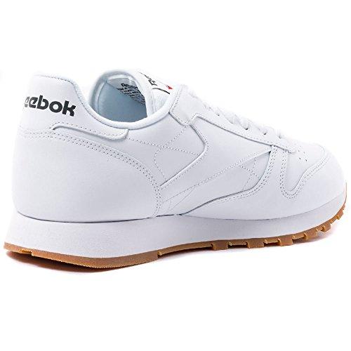 Reebok Cl Lthr, Zapatillas de Deporte Hombre, Blanco INT White Gum INT White Gum, 42.5