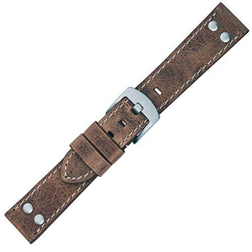 Eichmüller Ersatzband Uhrenarmband Vintage Look Leder Band 20mm 757