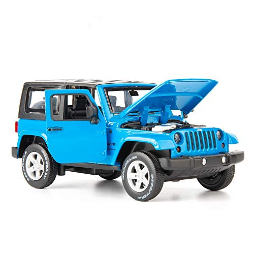 TGRCM-CZ Diecast Model Cars Toy Cars, Wrangler 1:32 Scale Alloy Pull Back Toy Car with Sound and Light Toy for Girls and Boys Kids Toys (Blue)