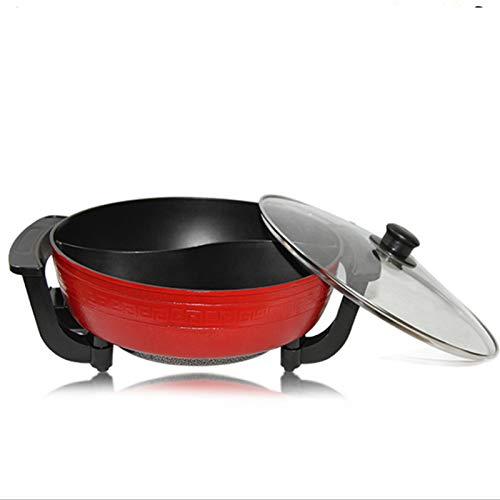 Olla caliente eléctrica multifuncional doble olla, Shabu-Shabu-Shabu a la parrilla de una pieza, 1360 W Utensilios de cocina profesional para el hogar