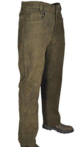 Hubertus 5 Pocket Jagd Lederhose Trapper 10451906 Oliv 315 Größe 56