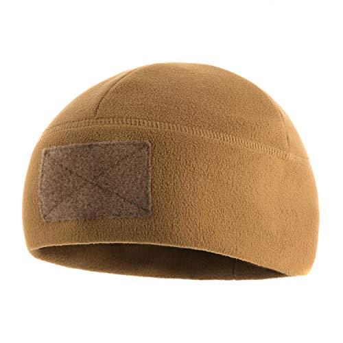 M-Tac Tactical Beanie Fleece Watch Cap - Winter Hat Elite - Patch Panel (Coyote Brown, M)