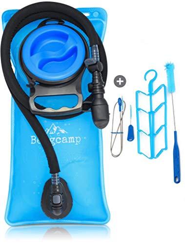 Bergcamp Trinkblase + Reinigungsset - wasserdichte Blase für den Rucksack zum Wandern,...