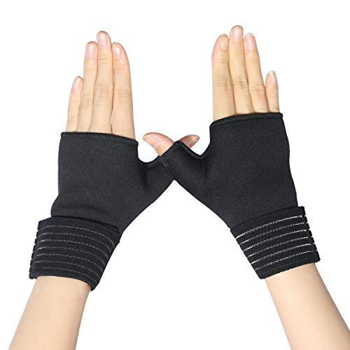 Muñequera | 1 par, soporte ajustable para muñeca para túnel carpiano, tendinitis, artritis, alivio del dolor de muñeca esguince y estabilizador de muñeca de neopreno con diseño de lazo para el pulgar