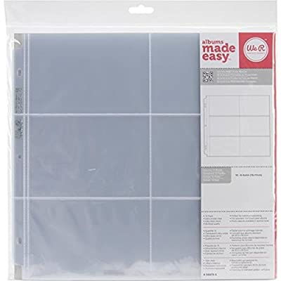 We R Memory Keepers 50073-5, 12 x 12 inch (6-4 x 6 Inch pockets) Postbound Album Photo Sleeve Protectors, Ultra Crystal Clear, 10 PK