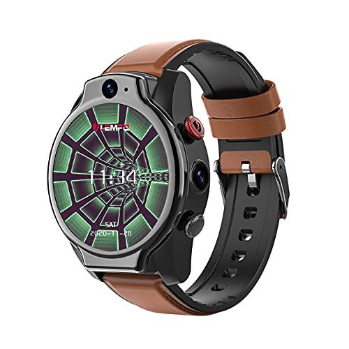 QNMM Reloj Inteligente LEM14 De 1,6 Pulgadas Android 10 4GB 64GB 5ATM Impermeable 5MP Cámara Dual 1100Mah Batería Grande 4G GPS WiFi Reloj Inteligente para Hombres