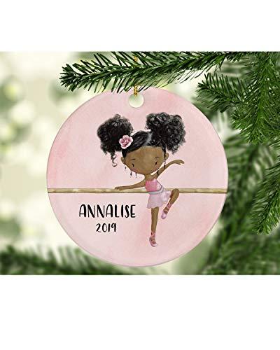 Alicert5II Ballerina-kerstversiering AfroAmerikaanse ballerina ballerina-ballerina-versiering ballerina-versiering ballerina