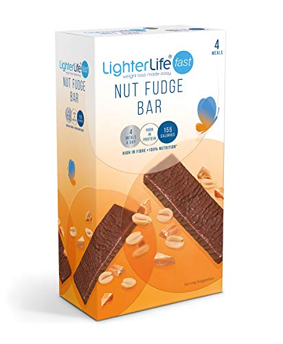 LighterLife Fast Nut Fudge Bar, Weight Loss Meal Replacement Bar, High in...