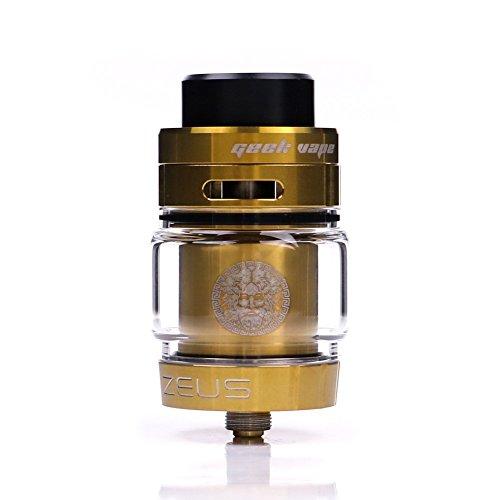Geekvape Zeus Dual RTA für E-Zigarette, mit innovativem, auslaufsicherem Top-Airflow-System, ohne E-Flüssigkeit, nikotinfrei (Gold)