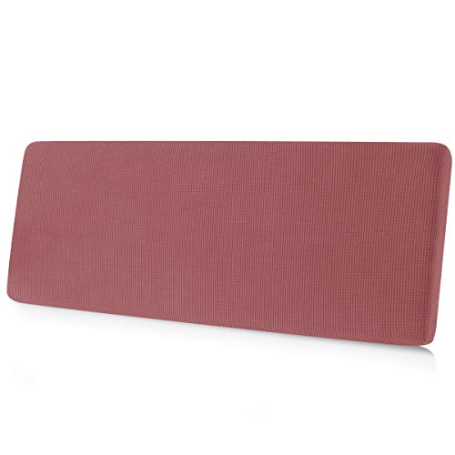 CHUN YI Stretch Couch Cushion Cover Suitable for Sofa, Seat Slipcover Replacement with Spandex Jacquard Fabric, Large, Coral Pink