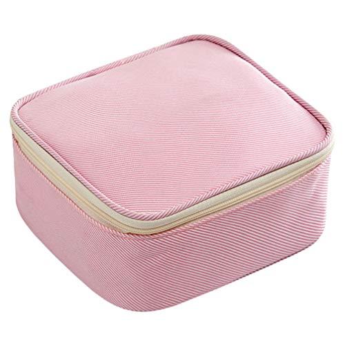HEMOTON Damenbindenhalter Taschen Stillkissenbeutel Tragbare Damenbinde Aufbewahrungsbehälter Reise Kulturbeutel Make-Up Veranstalter Tasche für Frauen Mädchen Rosa