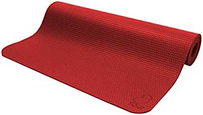 Bean Products Yogi RED Premium Hi Grip Mat Perfect for Yoga, Pilates and Jump - Non Toxic Natural Rubber and Polymer Blend - Earth Friendly Chicago - Our 30th Year!!!
