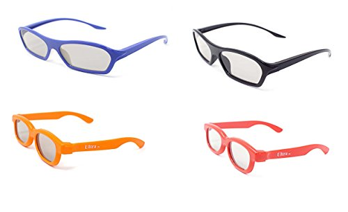 Family Pack of Passive 3D Glasses 2 Adults Wraparound Style 2 Childrens...