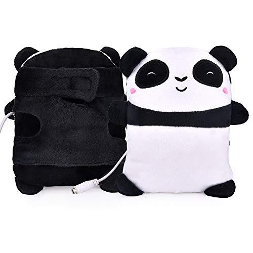 ECHOU USB Guanti Riscaldati Elettrico Riscaldamento Mano Warmers Fingerless Cute Panda Mano Forma Warmer Ufficio Home Work Guanti Invernali Regali