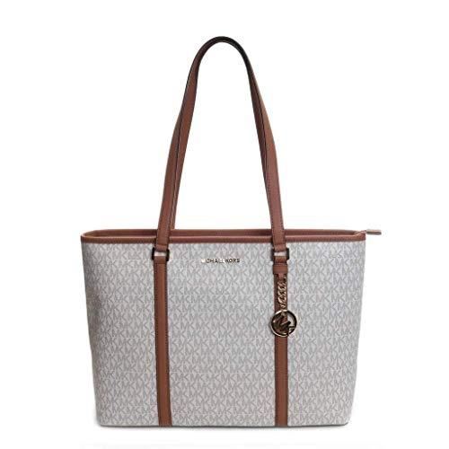 Michael Kors Women's Sady Carryall Shoulder Bag, Vanilla/Acorn 2019, One Size