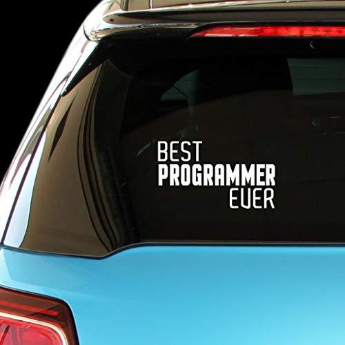 PressFans - Best Programmer Ever Car Laptop Wall Sticker