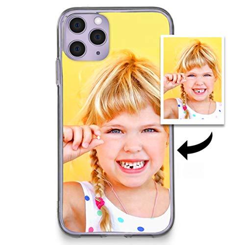 Funda iPhone 11 Personalizada - Estuche Suave de Gel TPU Transparente de Regalo, Pegatina Protectora Personalizada para iPhone 11 con tu Foto con Funda Transparente Ultrafina de Gel
