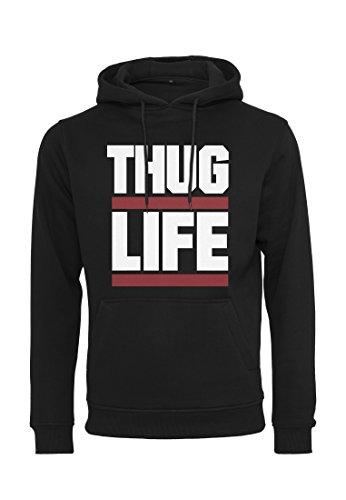 Thug Life Herren Block Logo Hoody Hoodie, Black, M