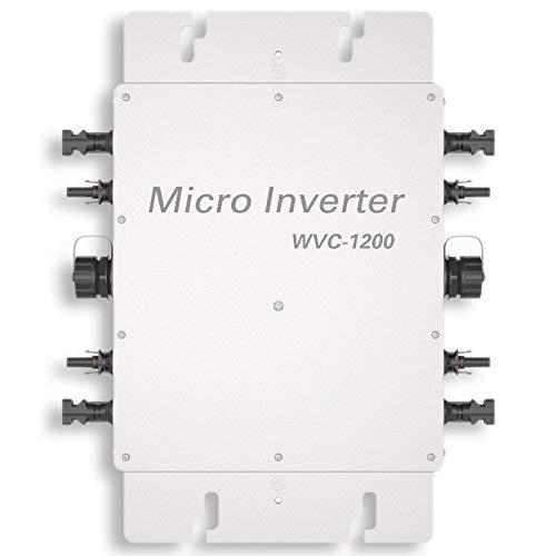 Ecoworthy 1200W 24V-230V Wasserdicht auf Netzspanner mit MPPT-Funktion für Zuhause Solarpanelsystem