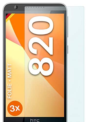 moex Schutzfolie matt kompatibel mit HTC Desire 820 - Folie gegen Reflexionen, Anti Reflex Bildschirmschutz, Matte Bildschirmfolie - 3X Stück