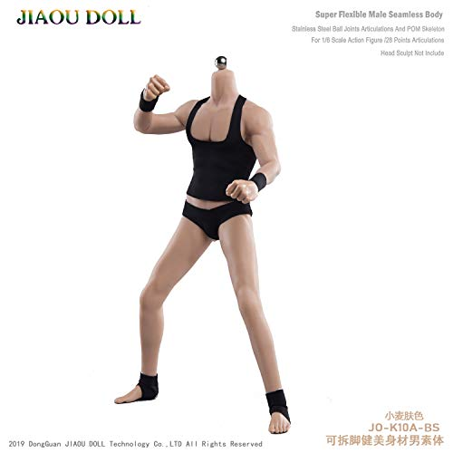 [Tbmodel] 1/6 男性 シームレス 筋肉ボディー 素体 フィギュア ボディ フィギュア 超柔軟 超可動 2ペア交換手 5種類男性器付き 見事な筋肉 肌色 JO-K10A-YS