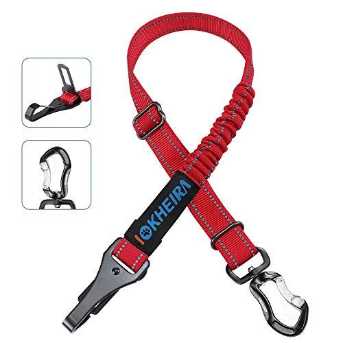 Cinturón de Seguridad para Perros de Iokheira, arneses de Seguridad Ajustables 3 en 1 para el Coche, cinturón de Seguridad Reflectante con Ganchos para Todas Las Razas de Perros y Tipos de Coc