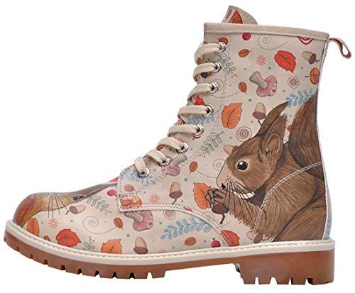 DOGO Damen Squirrel Schnürstiefel, beige, 38 EU