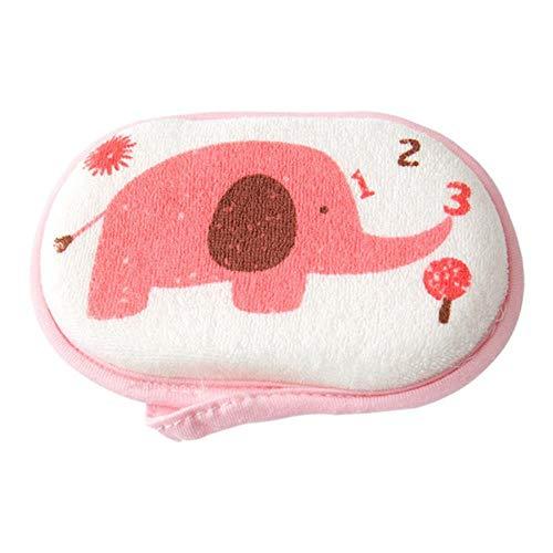 HOGMPY Baby Handtuch Zubehör Säuglingsduschschwamm Baumwolle Reiben Körper waschen niedlichen Kind Pinsel Bad Pinsel Schwämme 4 Stück,...