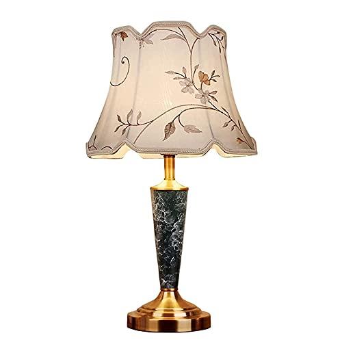 FAZRPIP Lámpara De Mesa De Cerámica Minimalista Nórdica, Lámpara De Noche para Dormitorio con Decoración De Mármol, Lámpara De Escritorio De Cerámica Esmaltada Negra De Mediados De Siglo, Lámpara