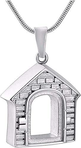 BEISUOSIBYW Co.,Ltd Collar Collar de Recuerdo Joyería de Memoria Familiar Collar de joyería Colgante conmemorativo de Acero Inoxidable con medallón de Ceniza