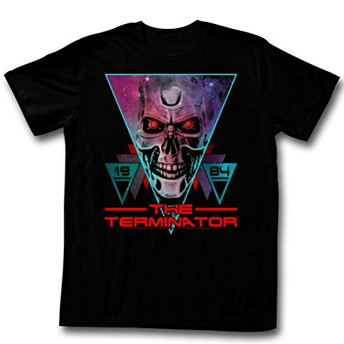 Men's The Terminator 1984 80s Triangle Graphic T-shirt, S to 2XL