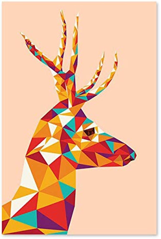 Agolong Digital-Malerei-Handbuch, das dekorativen bunten Diamant-Entwurf Diamant-Entwurf Diamant-Entwurf einzigartige Rotwild-Malereien eigene Farbe färbt Mit Rahmen 40x50cm B07MJ1GSJC | Fairer Preis  abd389