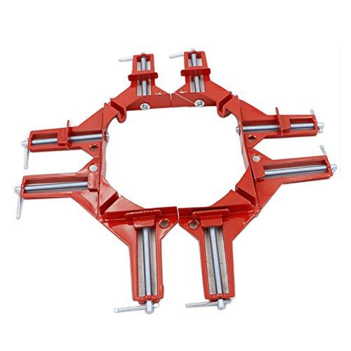 E-db 90 Grad rechts Winkel Klemme, Multi Winkel Lenkerklemmung, Bilderrahmen Ecke Halter, Holz-DIY Hand Tools - 4 Stück