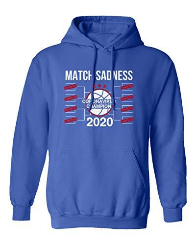 SMARTZONE Basketball Coronavirus Champ March Sadness 2020 Madness Boys Girls Youth Hooded Sweatshirt (Royal, Youth Small)