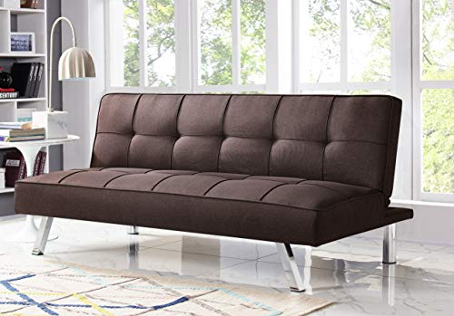 Serta RNE-3S-JV-SET Rane Collection Convertible Sofa, L66.1 x W33.1 x H29.5, Java