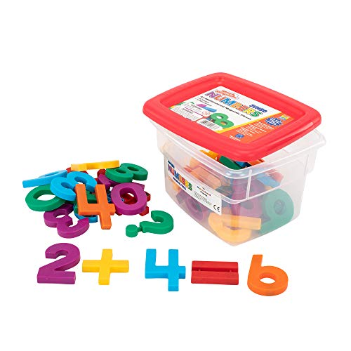 Educational Insights Multicolored Jumbo MathMagnets, Set of 42 Numbers & Math Symbols: Perfect for Homeschool & Classroom, Ages 3+