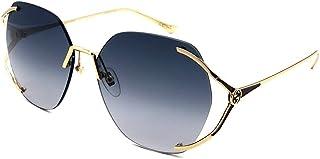 Gucci GG0651S 002 Sunglasses Women's Gold/Grey Gradient Lenses Fashion Oval 59mm