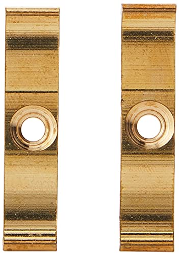 Merriway BH02317 Turn Button Granny Catch, 38mm (1.1/2 inch) - Solid Brass, Pack of 2