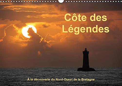 Côte des Légendes  À la découverte du Nord-Ouest de la Bretagne (Calendrier mural 2020 DIN A3 horizontal): Une excursion sur la côte des phares (Calendrier mensuel, 14 Pages )