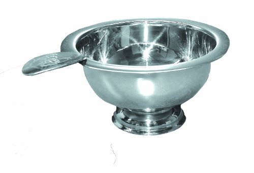 Stinky Cigar Personal Size Ashtray with 1 Stirrup, Wind Resistant Deep Bowl, Compact, Durable, Stainless Steel