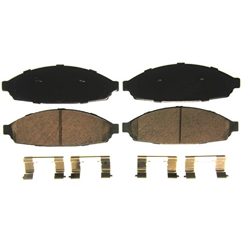 Rear Wagner Brake Wagner QuickStop ZD1040A Ceramic Disc Pad Set Includes Pad Installation Hardware