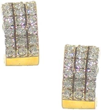 KIARA Gold Plated Crystal Clip On Earrings