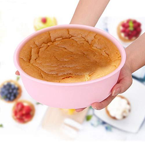 YIN YIN Plateau de Cuisson, gâteau en Silicone Moule à Micro-Ondes ménages évaporation Gâteau Pain Embryon Fond Solide antiadhésif de Cuisson au Four Plateau Plat de Cuisson (Color : B)